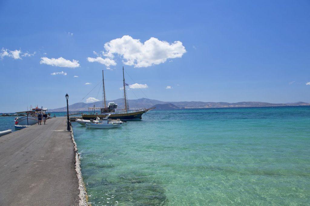 Naxos - Blick von der Mole aufs Meeres Feeling pur