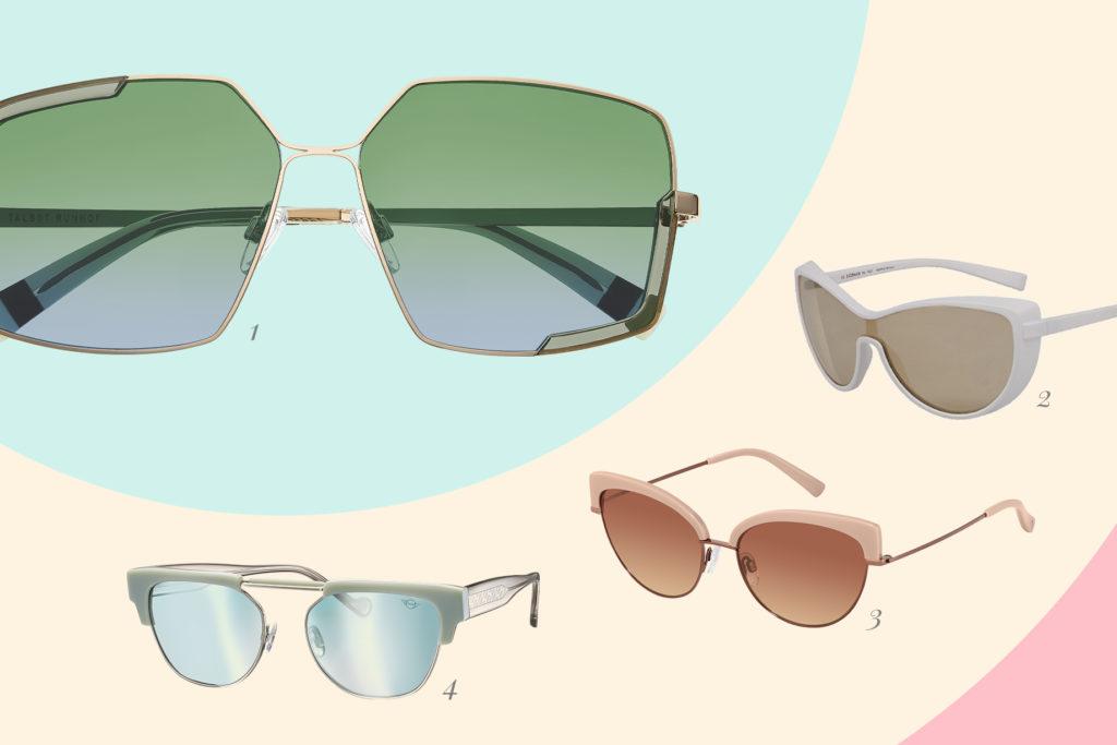 Der moderne Retro-Look ist ein Sonnenbrillen-Trend in 2021.